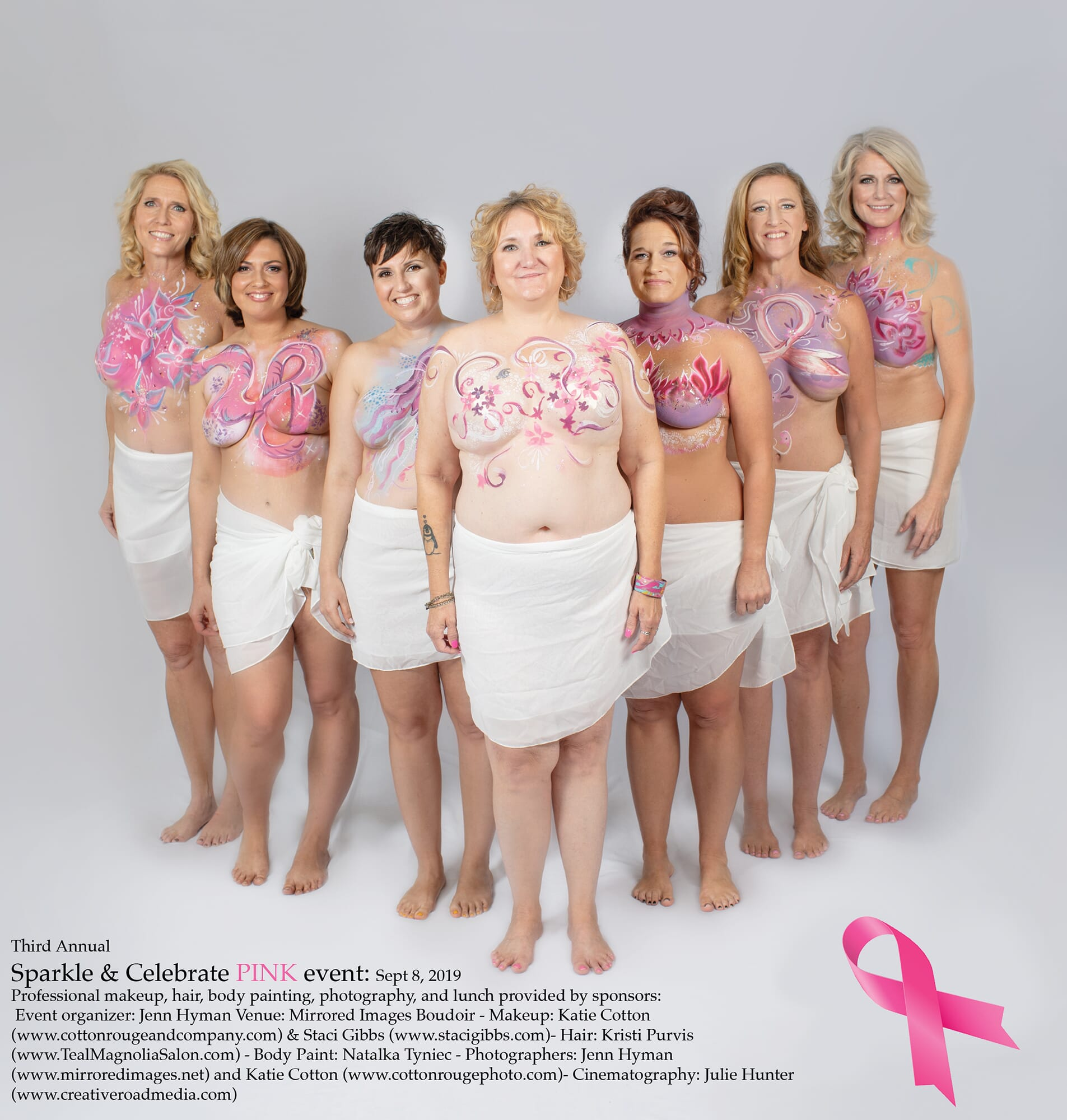 breast cancer event, breast cancer, cancer, survivor, mastectomy, breast reconstruction, atlanta, cancer event, free event, volunteer, susan g komen, body paint, glitter, self love, body positive, embrace your scars